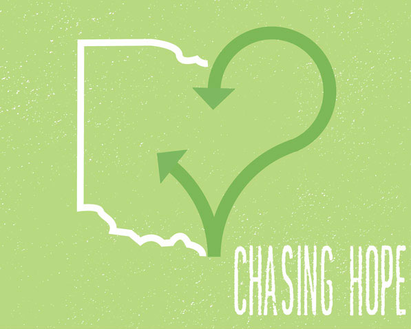 Chasing Hope Logo - composition of state of Ohio merged with a heart